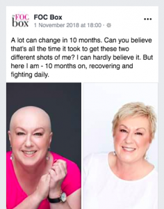 Nellie FOC Box owner discussing the changes her body went through in 10 months post treatment